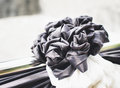 Black Bow For Funeral, Retro Tone Royalty Free Stock Images - 79346339