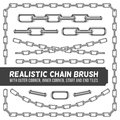 Realistic Metal Chain Set, Vector Silver Chains Royalty Free Stock Images - 79346839
