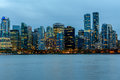 Vancouver, Canada, October 12 2016. Night Lights On Downtown Van Royalty Free Stock Image - 79349566