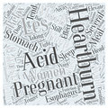 Acid Reflux And Pregnancy Word Cloud Concept  Background Stock Image - 79358961