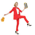 Charming Woman Holding Gifts. Happy New Year. Marry Christmas. Royalty Free Stock Photos - 79364508
