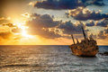 Boat EDRO III Shipwrecked Royalty Free Stock Photos - 79367248