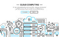 Cloud Computing - Line Design Website Banner Royalty Free Stock Images - 79371089