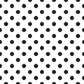 Tile Vector Pattern With Black Polka Dots On White Background Royalty Free Stock Photography - 79383407