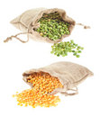 Yellow And Green Split Peas Stock Images - 7940604