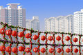 Red Lanterns In The New Year. Stock Image - 7944001