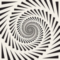Vector Black And White Spiral Triangles Swirl Abstract Optical Illusion Royalty Free Stock Image - 79411416