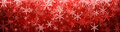 Red Winter Banner With Snowflakes. Stock Image - 79426311