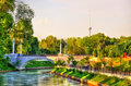 Scenic View Of Anchor Canal With TV Tower In The Background - Tashkent, Uzbekistan Royalty Free Stock Images - 79432569