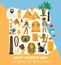 Egypt Touristic Map Stock Photography - 79432802