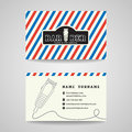 Business Card - Barber Shop And Hair Clippers Logo Vector Design Stock Photo - 79435480