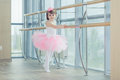 Adorable Child Dancing Classical Ballet In Studio. Royalty Free Stock Images - 79465139