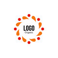 Isolated Abstract Colorful Round Shape Red And Orange Color Logo. Spining Spiral Logotype. Autumn Leaves Circle Icon Royalty Free Stock Images - 79480679