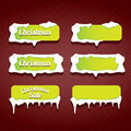 Christmas Web Buttons Set. Winter Web Buttons Royalty Free Stock Photo - 79490925