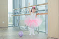 Adorable Child Dancing Classical Ballet In Studio. Royalty Free Stock Photo - 79499965