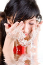 Woman Refreshing The Face Stock Photo - 7951170