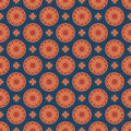 Seamless Mandala Pattern. Vintage Elements In Oriental Style. Te Royalty Free Stock Photography - 79500687
