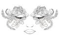 Woman Face In A Mask Of Flowers. Vector Illustration. Stock Image - 79528311