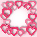 Bright Pink Paper Hearts Vector Background. Stock Photography - 79533622