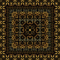 Bandanna With Gold Pattern. Stock Image - 79541231