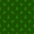 Pattern For Wrapping Paper. Christmas Tree On A Green Background Stock Photography - 79543152