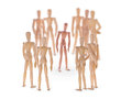 Dummy Characters. Different One In Center Of The Crowd. Royalty Free Stock Photos - 79543488