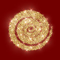 Gold Glitter Circle Golden Vector Abstract Christmas Texture Red Royalty Free Stock Photo - 79563235