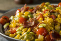 Homemade Succotash With Lima Beans Royalty Free Stock Image - 79592966