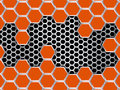 Geometric Pattern Of Hexagons. Abstract Orange Metal Background Royalty Free Stock Photo - 79596685