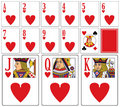 Casino Playing Cards - Hearts Royalty Free Stock Images - 7968899
