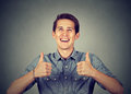 Happy Man Giving Thumbs Up Sign Royalty Free Stock Photos - 79610198