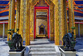 Doorway To The Central Chedi At Wat Ratchabopit Royalty Free Stock Images - 79626039