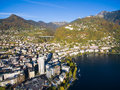 Aerial View Of Montreux Waterfront, Switzerland Royalty Free Stock Photos - 79638588