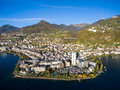 Aerial View Of Montreux Waterfront, Switzerland Stock Photos - 79639063