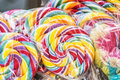 Colorful Sweet Spiral Lollipops In The Shop Stock Photo - 79641960