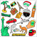 Fashion Travel Badges, Patches, Stickers. Architecture, Adventure, World Cruise In Comic Style Stock Images - 79644704