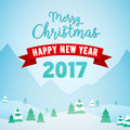 Merry Christmas And Happy New Year Mountains Snowfall Landscape With Trees. Winter Holidays Greeting Card Royalty Free Stock Images - 79644719