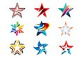 Star, Logo, Creative Set Of Abstract Stars Logo Collection, Stars Symbol Vector Design Element Stock Photos - 79654233