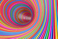 Hypnotic Psychedelic Multicolour Circles Tunnel. 3d Rendering Stock Image - 79667601