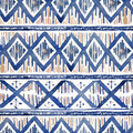 Vibrant Ethnic Rhombus Pattern In Watercolour Style. Royalty Free Stock Photos - 79692578