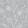 Floral Seamless Pattern. Flower Doodle Engraved Background. Royalty Free Stock Images - 79700839