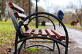 Bench In The City Spring Royalty Free Stock Images - 79705109