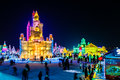 January 2015 - Harbin, China - International Ice And Snow Festival Royalty Free Stock Images - 79712119