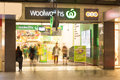 Adelaide Woolworths Store At Night Stock Images - 79718984