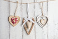 Valentine Hearts On Wooden Background Royalty Free Stock Photo - 79723675