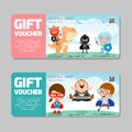 Gift Voucher Template And Modern Pattern.child Concept. Voucher Template With Premium Pattern, Voucher Superhero Kids Royalty Free Stock Photos - 79731608