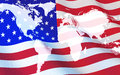 Flag USA And World Map Royalty Free Stock Images - 79738519