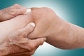 The Fingers At Lymphatic Drainage Massage Of Old Man Stock Photography - 79745352