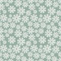 Winter Pattern With Snowflakes On A Green Background Stock Images - 79747634