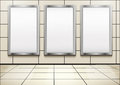 Empty Mockup Billboard Inside Metro Or Subway Royalty Free Stock Photos - 79749368